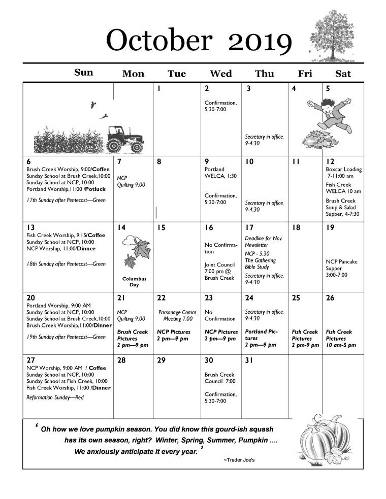 Oct 19 Newsltr-Calendar-page-0